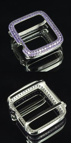 Bezels and Inserts 57714: Sterling Silver Apple Watch Bezel Purple Simulated Diamonds Custom Fit 42 Mm -> BUY IT NOW ONLY: $59.99 on eBay!