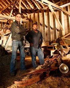 Picture: Mike Wolfe and Frank Fritz in 'American Pickers.' Pic is in a photo gallery for Frank Fritz (American Pickers) featuring 34 pictures. American Pickers, History Channel, Reality Tv, Favorite Tv Shows, Favorite Things, We The People, I Movie, Movies And Tv Shows, Pictures