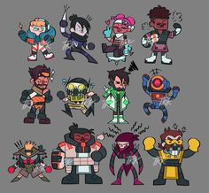 Squad by TheKittleKat // Apex Legends Pocket Legends, Game Character, Character Design, Make A Cartoon, The Revenant, Kawaii, Geek Culture, Best Games, Game Art
