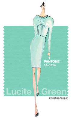 Christian Siriano - Blue Seafoam, Cool Aqua, Icy Blue, crisp and clean White and Deep Navy - Spring 2015 Pantone Fashion Color Report