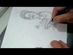 Vídeo mostrando o processo de criação de uma charge