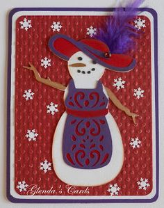 Glenda's Cards quilted Christmas