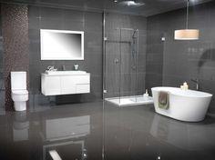 Modern Grey Bathroom | Marbletrend - Leading Designer Bathrooms