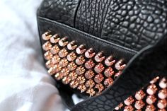 All I want for my birthday is this Alexander Wang, Rocco with the rose gold studs!!!! Ahhhhh <3