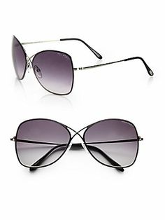 Tom Ford Eyewear Colette Rimless Oversized Aviator Sunglasses
