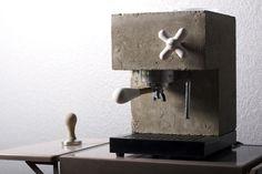 Anza Coffee Machine corian béton pour des café bruts ! - machine à café design en béton et corian