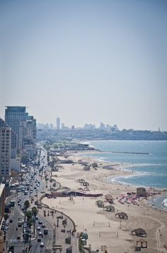 Tel Aviv beaches. Dvora loves the beach and spent hours of her down time lying in the sun perfecting her tan.