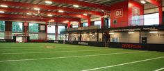 D1 Sports Knoxville Indoor Soccer Field, Warehouse Design, Sport Park, College Football, Gym, Sports, Training, Lighting, Places