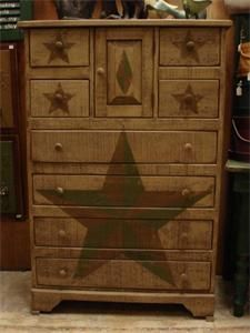 Amish Primitive Chest Of Drawers Stars - traditional - dressers chests and bedroom armoires - Dutch Crafters Pine Bedroom Furniture, Amish Furniture, Primitive Furniture, Rustic Furniture, Painted Furniture, Diy Furniture, Lounge Furniture, Repurposed Furniture, Vintage Furniture