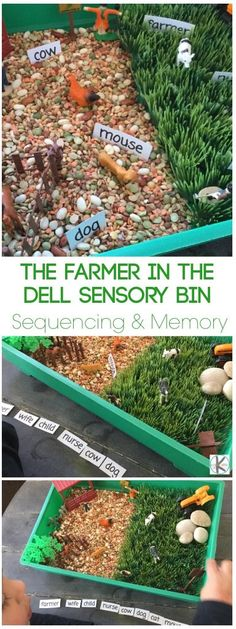 Farmer in the Dell Rhyming Activity - this is such a fun way to use Nursery Rhymes to learn while playing Kindergarten Games