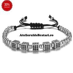 Bratara dama cu Argint 925 cu 5 zaruri cu cristale Zirconia este impletita manual. Bratara dama cu Argint 925 cu 5 zaruri cu cristale Zirconia este ambalata intr-o cutie cadou sau saculet de catifea si poate fi cadoul ideal pentru o zi aniversara sau onomastica. Beaded Bracelets, Model, Jewelry, Jewlery, Jewerly, Pearl Bracelets, Scale Model, Schmuck