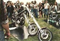 Wild Norton at Kent Custom Bike Show UK 1980's