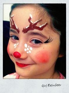 #facepainting#rudolph#reindeer