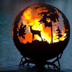 Олени - сфера 1/92 (огненный шар) ландшафтный огонь | piroclub.ru