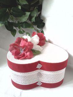 Handcrafted Fabric Heart Shape Keepsake / Trinket Box