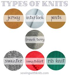 Types of Knit fabrics || Sewing With Knits