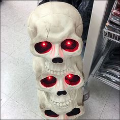 One skull is just not shocking enough. Two are barely better at all. Do consider Three Stacked Skulls With Glaring Eyes at achieve heightened visibility. Halloween Skeletons, Favorite Holiday, Trick Or Treat, Skulls, Third, Retail, Superhero, Eyes, My Favorite Things