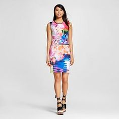 Women's Print Mix Neoprene Sheath Dress - Dream Daily by Clover Canyon