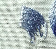 Long and Short Stitch Lesson Shaded Curves Rose Embroidery, Hand Embroidery Patterns, Embroidery Thread, Cross Stitch Embroidery, Portrait Embroidery, Long And Short Stitch, Brazilian Embroidery, Thread Painting, Satin Stitch