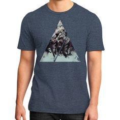 Geometric Conversation District T-Shirt (on man)