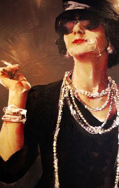 'Coco Chanel', Lita Cabellut (b1961, born a gipsy girl in the streets of El Raval in Barcelona, Cabellut was adopted at the age of 13)...