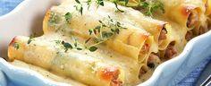 DAGENS RETT: Fylt pasta er mye enklere å lage enn du kanskje tror Scampi, Biscotti, Pasta, Meat, Chicken, Recipes, Food, Wraps, Al Pastor