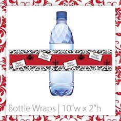 Birthday Party Bottle Wraps  Classic by BlackCherryPrintable