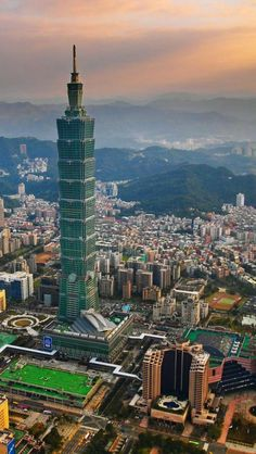 ✿ ❤ Taipei, 101, Taiwan, it just to be the world tallest building, today will be tested by a very strong Typhoon, https://www.facebook.com/ManhattanoftheSouth