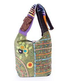 Loving this Green & Purple Floral Shoulder Bag on #zulily, $14 !!  #zulilyfinds