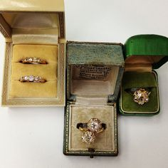 These vintage rings are so sweet-how can you choose just one? :) Exclusively at Single Stone. (213) 892-0772 www.singlestone.com #diamonds #vintage #rings #antique #oldsoul #sweet #jewelry #finejewelry #jewelbox #love #gorgeous #gold #beautiful #wedding #engagement #propose #forever #losangeles #flower