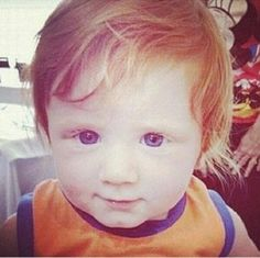 Ed Sheeran as a baby. This is the cutest thing I've ever seen before in my life ever.