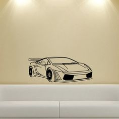 Lamborghini Lambo Racing Car Spoiler Wall Vinyl Decal
