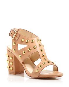 Isa Tapia Open Toe Studded City Sandals - Alona