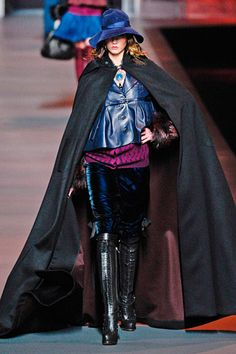 Christian Dior. I mean, I know Dior's always off the wall, but can cloaks come into style? PLEASE?