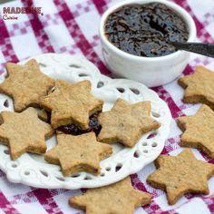 Pin on Retete Ema Muffins, Sugar Free Jam, Jam Cookies, 4 Ingredients, Gingerbread Cookies, Macarons, Great Recipes, Biscuits, Keto
