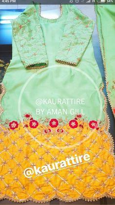 @jot❤ Designer Punjabi Suits Patiala, Punjabi Suits Designer Boutique, Patiala Suit Designs, Boutique Suits, Embroidery Suits Punjabi, Embroidery Suits Design, New Style Suits, Punjabi Wedding Suit, Orange Suit