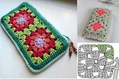 ¿Nos hacemos un bolso o un monedero con grannys? | Grannysquare.eu Crochet Coin Purse, Crochet Pouch, Crochet Purses, Bead Crochet, Crochet Motif, Crochet Doilies, Free Crochet Doily Patterns, Crochet Bag Tutorials, Granny Square Crochet Pattern