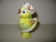 Adorable Vintage Josef Originals Chicken w Bonnet Apron Pie Bird Vent Pump ❤ ❤ ❤