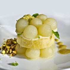 Apples, Olive Oil Biscuit and Ginger Custard