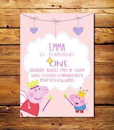 Este listado está para un (jpe. Peppa Pig Invitations, Custom Birthday Invitations, Digital Invitations, Invitacion Peppa Pig, Cumple Peppa Pig, Pig Birthday, 2nd Birthday Parties, 1st Birthdays, Pig Party