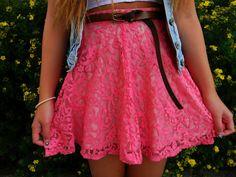 Lace skirt pink, super soft *-*