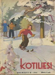 Divari Kangas Xmas Greetings, Vintage Postcards, Finland, Martini, Skiing, Retro Vintage, Nostalgia, Arts And Crafts, Snow