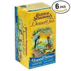 Celestial Seasonings Dessert Tea, Almond Sunset, Tea Bags, 20-Count Boxes (Pack of 6)