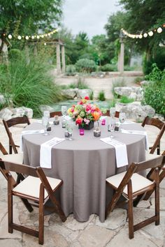 Gray Linens at Reception | photography by http://jnicholsphoto.com/