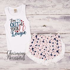 21224e89f0c9 I m Out of Your League Glitter Tank Top and Ruffled Shorts Outfit - Baby  Girl