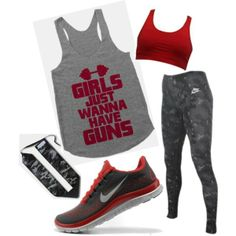Girls just wanna have guns! Workout Attire, Workout Outfits, Nike Outfits, Workout Wear, Sport Outfits, Cool Outfits, Fashion Outfits, Crossfit Shirts, Crossfit Clothes