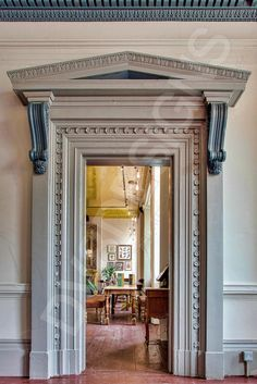 The Old Blind School, Liverpool, Architectural details, Architrave, Door
