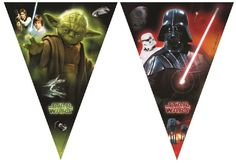 Shop for Unique Party 71971 - Heroes And Villains Star Wars Bunting Banner. Starting from Compare live & historic toys and game prices. Schultüte Star Wars, Star Wars Party, Pennant Banners, Bunting Banner, Darth Father, Party Flags, Ader, Star Wars Collection, Party Packs