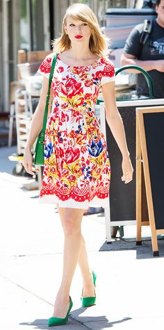 Look of the Day - June 23, 2014 - Taylor Swift from #InStyle