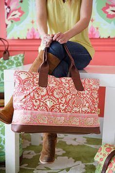 Amy Butler overnight bag